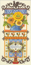 Borduurpakket Provence Sunflower Sampler - Janlynn