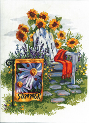 Borduurpakket Summer Garden Flag - Janlynn