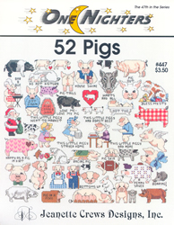 Borduurpatroon 52 Pigs - Jeanette Crews Designs