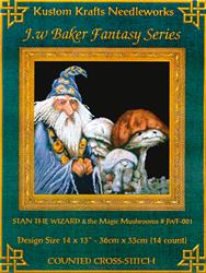 Borduurpatroon Stan the Wizard & Magic Mushroom - Kustom Krafts