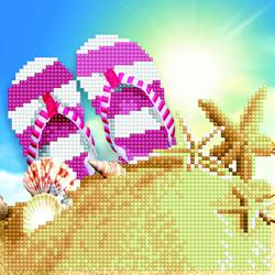 Diamond Art Flip Flops - Leisure Arts