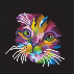 Diamond Art Colored Cat - Leisure Arts