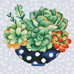 Diamond Art Succulent Bowl - Leisure Arts