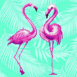 Diamond Art Flamingo Duo - Leisure Arts