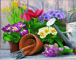 Diamond Art Spring Gardening - Leisure Arts