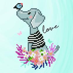 Diamond Art Goggie Love - Leisure Arts