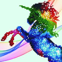 Diamond Art Rainbow-ombre unicorn - Leisure Arts