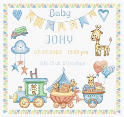 Borduurpakket Baby Boy Record - Leti Stitch