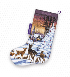 Borduurpakket Christmas Wood Stocking - Leti Stitch