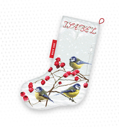 Borduurpakket Blue tits Stocking - Leti Stitch