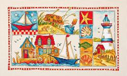 Borduurpakket Gone to the Beach - Leti Stitch