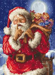 Borduurpakket Santa's secret - Leti Stitch