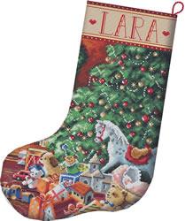 Borduurpakket Cozy Christmas Stocking - Leti Stitch