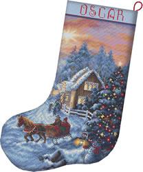 Borduurpakket Christmas Eve Stocking - Leti Stitch