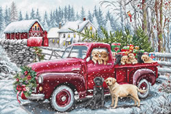 Borduurpakket Christmas Delivery - Leti Stitch