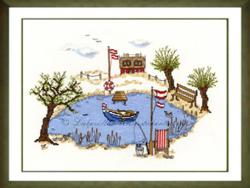 Borduurpakket Haus am See - Liebevolle Kreuzstichentwürfe