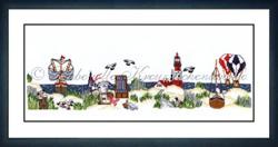 Borduurpakket Strandidylle - Liebevolle Kreuzstichentwürfe