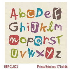Borduurpatroon Multicolour Alphabet - LiliPoints
