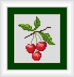 Borduurpakket Cherries - Luca-S
