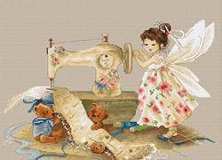 Borduurpakket Needlework Fairy - Luca-S