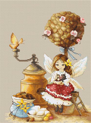 Borduurpakket Coffee Fairy - Luca-S
