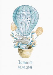 Borduurpakket Rabbit in a Flying Balloon - Luca-S