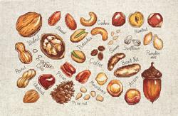 Borduurpakket Nuts & Seeds - Luca-S