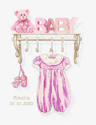 Borduurpakket Baby Girl Birth - Luca-S