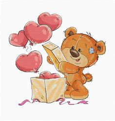 Borduurpakket Teddy Bear Opening Box - Luca-S