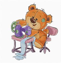 Borduurpakket Teddy Bear Sewing - Luca-S