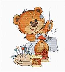 Borduurpakket Teddy Bear Stitching - Luca-S