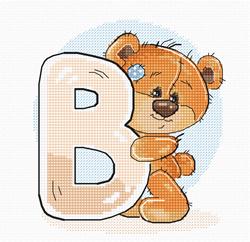 Borduurpakket Letter B - Luca-S