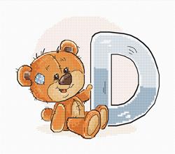 Borduurpakket Letter D - Luca-S