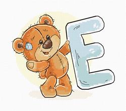 Borduurpakket Letter E - Luca-S