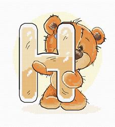 Borduurpakket Letter H - Luca-S