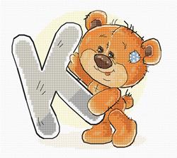 Borduurpakket Letter K - Luca-S