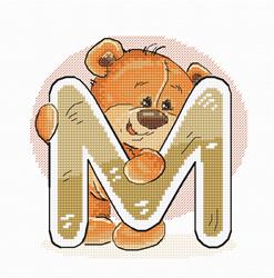 Borduurpakket Letter M - Luca-S