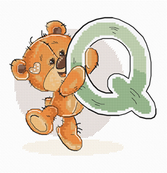 Borduurpakket Letter Q - Luca-S
