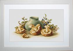 Borduurpakket Still Life with Mushrooms - Luca-S