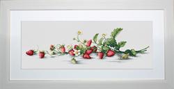Borduurpakket Etude with Strawberries - Luca-S