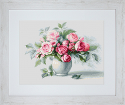 Borduurpakket Etude with Roses - Luca-S