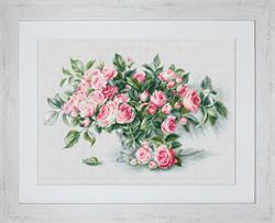 Borduurpakket Bouquet of Pink Roses - Luca-S