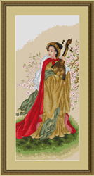 Borduurpakket Japanese Lady IV - Luca-S