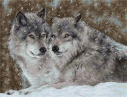 Borduurpakket Two Wolves - Luca-S