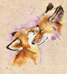 Borduurpakket Foxes - Luca-S