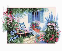 Borduurpakket Flower Garden  - Luca-S
