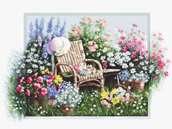 Borduurpakket Blooming garden  - Luca-S