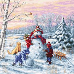 Borduurpakket Merry Christmas - Luca-S
