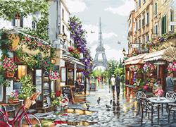 Borduurpakket Paris in Flowers - Luca-S