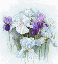Borduurpakket Irises - Luca-S